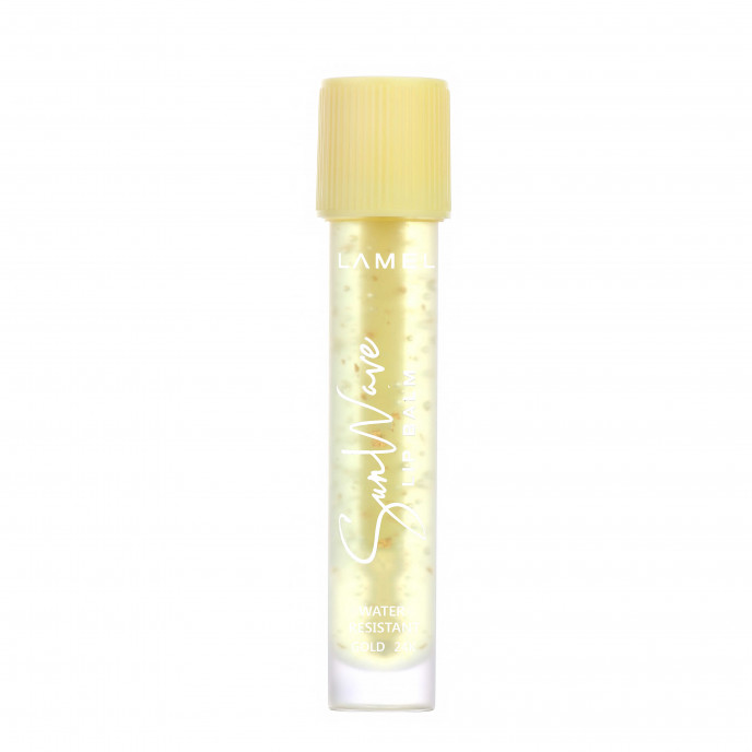 Lip Balm with golden flakes